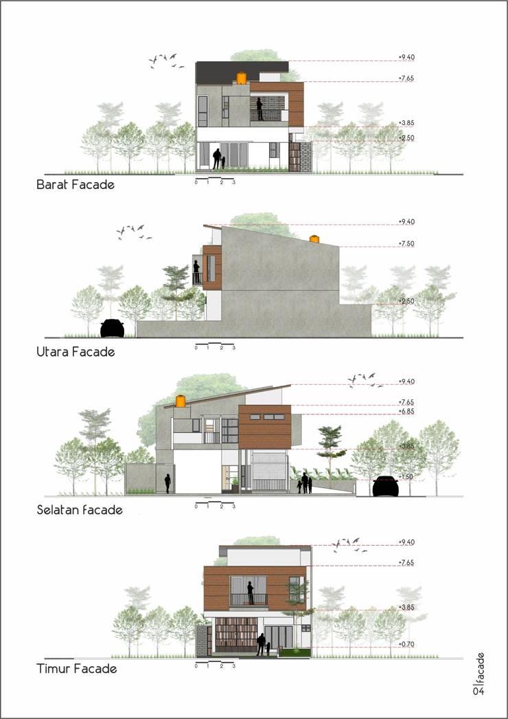 Bentuk Fasad:   by CASA.ID ARCHITECTS