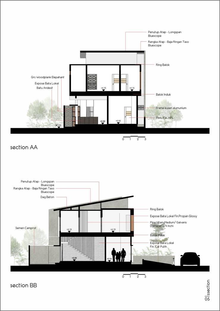 Perincian Penggunaan Material:   by CASA.ID ARCHITECTS