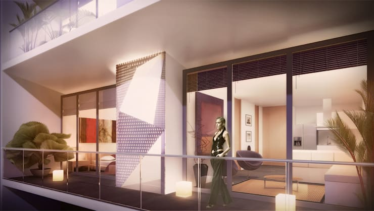 Edificio Piedra  Hincada-Terraza Apartamento:  de estilo  por RIVAL Arquitectos  S.A.S.