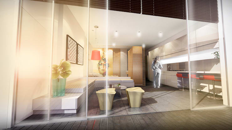 Edificio Piedra  Hincada-Apartamento 1 alcoba:  de estilo  por RIVAL Arquitectos  S.A.S.