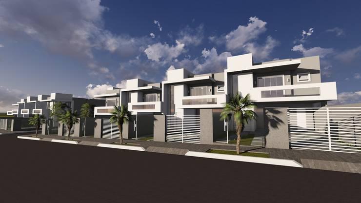 Condomínio Residencial Solaris Residence: Casas geminadas  por Cláudia Legonde