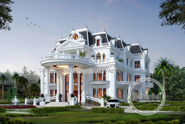Phối cảnh mẫu dinh thự kiểu Pháp đẹp lung linh hoành tráng (CĐT: Bà Thúy - Bình Dương) KT18020:   by Công Ty CP Kiến Trúc và Xây Dựng Betaviet