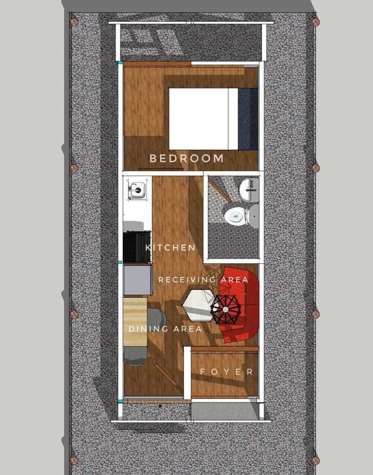 Studio Type Bungalow Residential Unit:  Bungalows by ezpaze design+build