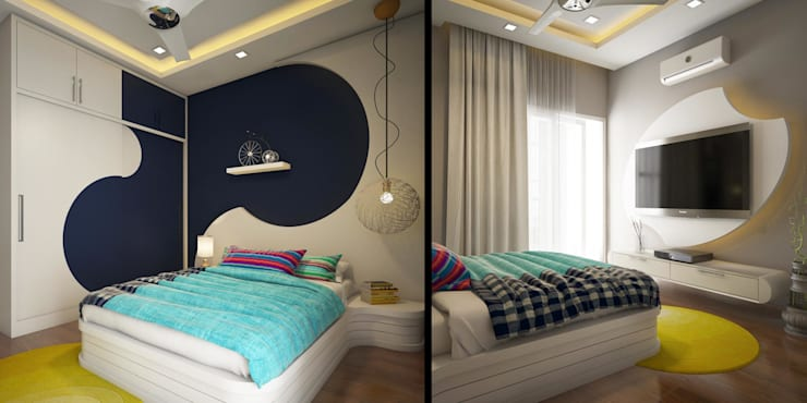 Home Furnishing in Kerala: asian Bedroom by Monnaie Interiors Pvt Ltd