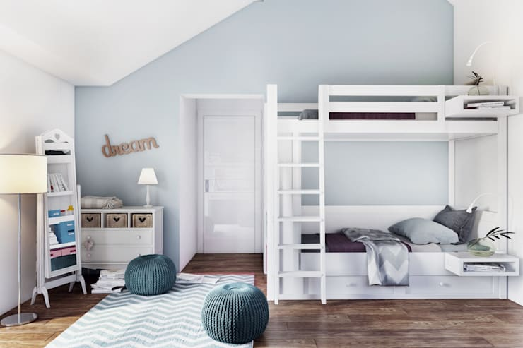 Habitaciones juveniles de estilo  por DZINE & CO, Arquitectura e Design de Interiores