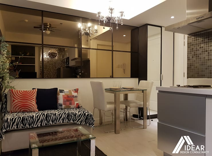 Sofisticato at Azure Urban Residences, Paranaque City:  Living room by Idear Architectural Design Consultancy