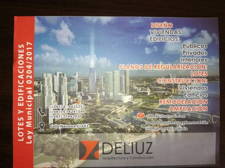 REGULARIZACION DE TERENOS Y CONSTRUCCIONES AMNISTIA 2018 Casas modernas: Ideas, diseños y decoración de ESTUDIO DE ARQUITECTURA 'DELIUZ' Moderno
