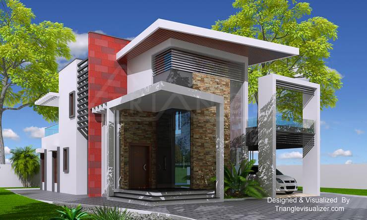Villa at Thiruvallam:  Villas by TRIANGLE HOMEZ