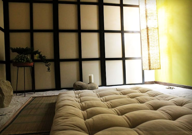 Cabina Tierra: Spa de estilo  por Dharma Arquitectura