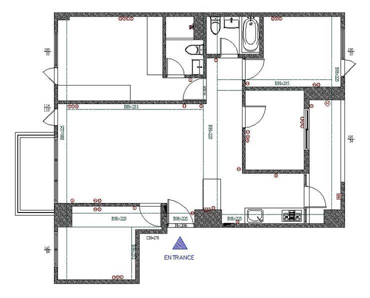 原始平面圖:   by 寬軒室內設計工作室