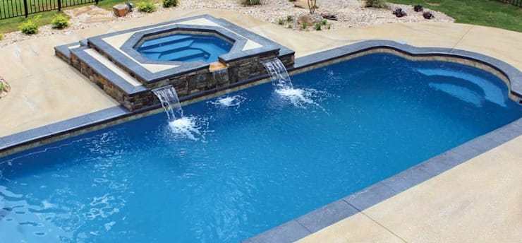 FRP Swimming Pool:  Garden Pool by Scube Creations,Tropical