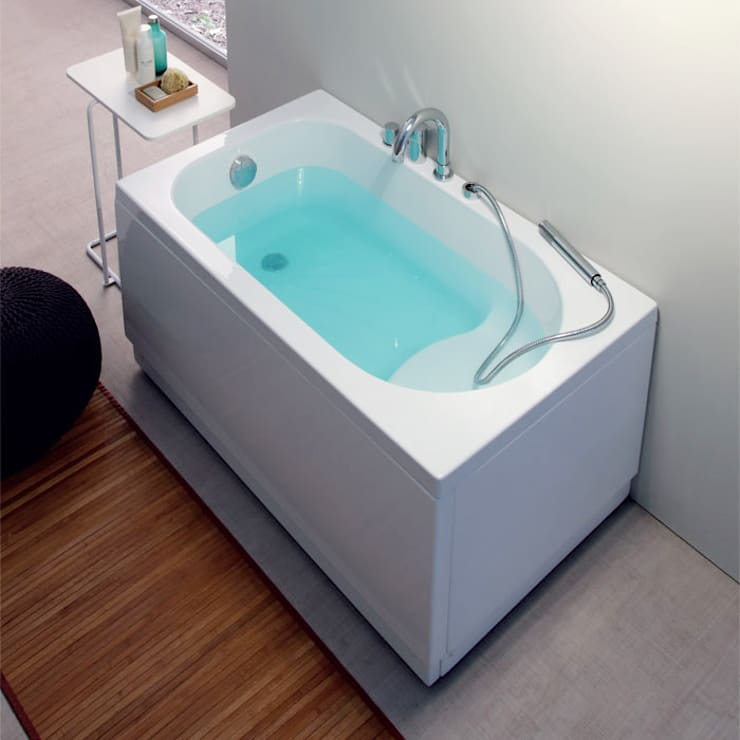 Vasca Da Bagno Lunga 120 Cm.Vasca Da Bagno Moderna Rettangolare Pega 120x70 Di Jo Bagno It Homify