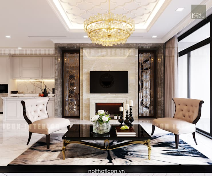 Classic style living room by ICON INTERIOR Classic