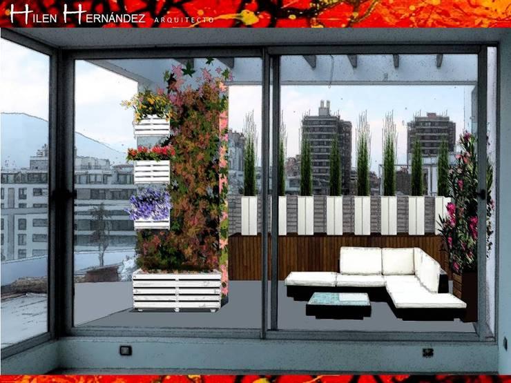 TERRAZA EN VITACURA: Terrazas  de estilo  por HZ ARQUITECTOS