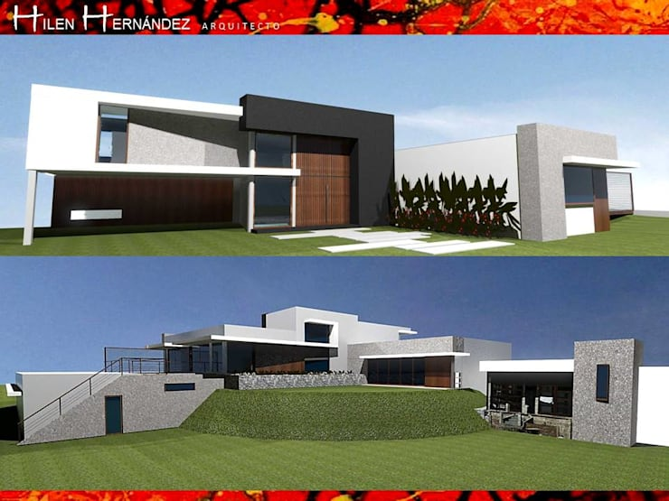 VIVIENDA EN CURACAVI: Pasillos y hall de entrada de estilo  por HZ ARQUITECTOS