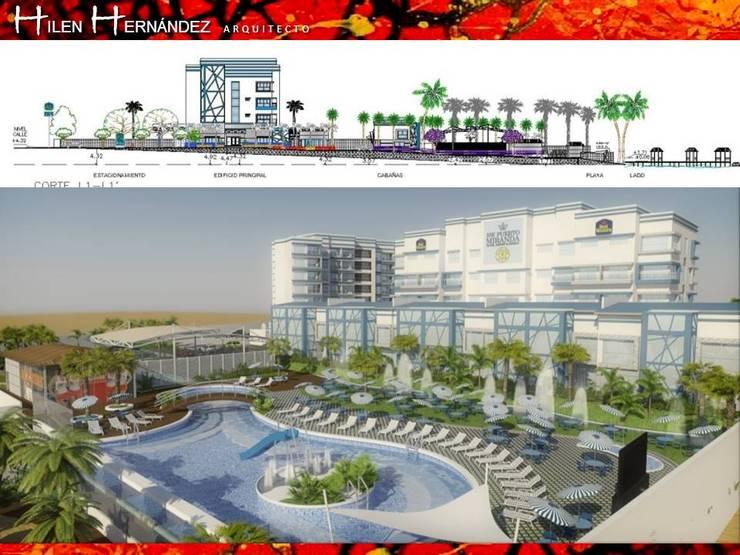 HOTEL BEST WESTERN: Chalets de estilo  por HZ ARQUITECTOS