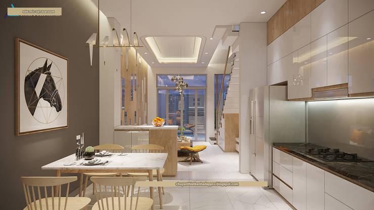 Nhà bếp by Cong ty thiet ke nha biet thu dep Kien An Vinh