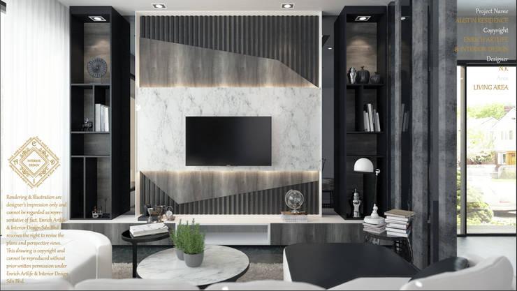 LIVING AREA: modern Living room by Enrich Artlife & Interior Design Sdn Bhd