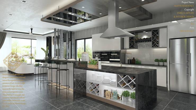 DINING WITH THE DRY KITCHEN: modern Kitchen by Enrich Artlife & Interior Design Sdn Bhd