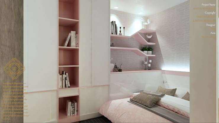 BEDROOM: modern Bedroom by Enrich Artlife & Interior Design Sdn Bhd