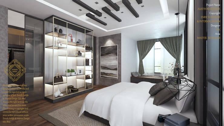 MASTER BEDROOM: modern Bedroom by Enrich Artlife & Interior Design Sdn Bhd