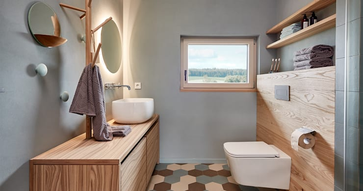 Country style bathrooms by Bau-Fritz GmbH & Co. KG Country