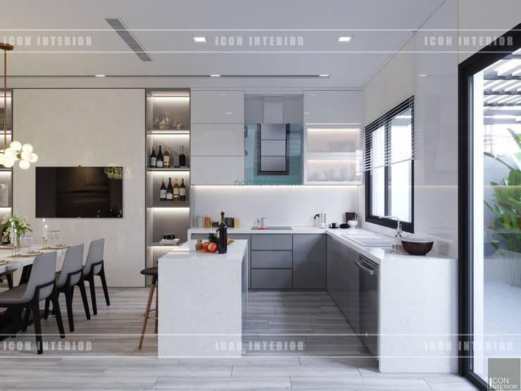 Thiết kế nội thất biệt thự Nine South – Tinh tế đến từng chi tiết nhỏ!:  Nhà bếp by ICON INTERIOR