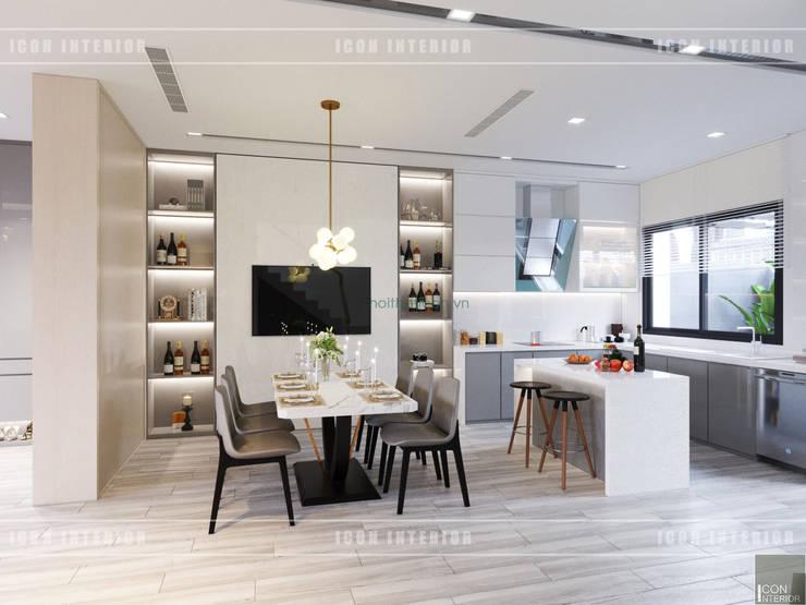 Thiết kế nội thất biệt thự Nine South – Tinh tế đến từng chi tiết nhỏ!:  Phòng ăn by ICON INTERIOR