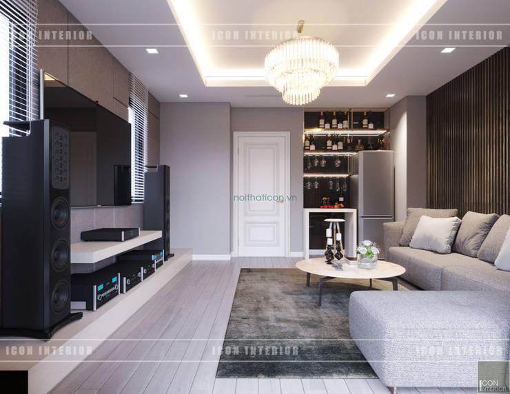 Thiết kế nội thất biệt thự Nine South – Tinh tế đến từng chi tiết nhỏ!:  Phòng giải trí by ICON INTERIOR