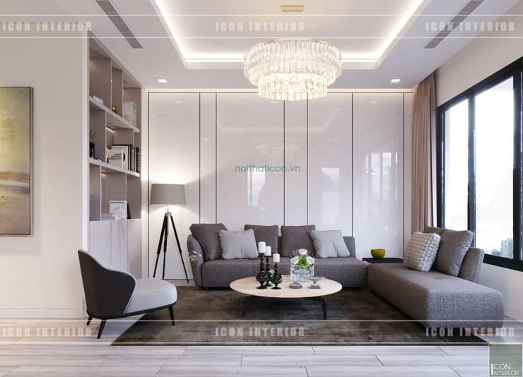 Thiết kế nội thất biệt thự Nine South – Tinh tế đến từng chi tiết nhỏ!:  Phòng khách by ICON INTERIOR