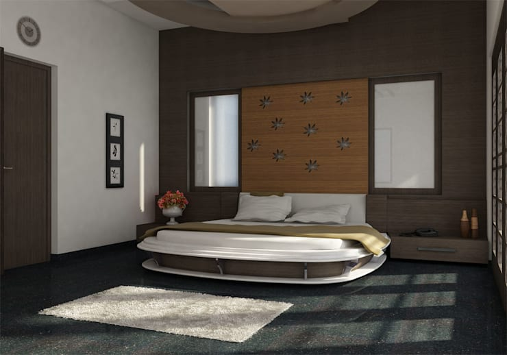 INTERIOR OF MASTERBEDROOM: modern  by Monoceros Interarch Solutions,Modern Plywood