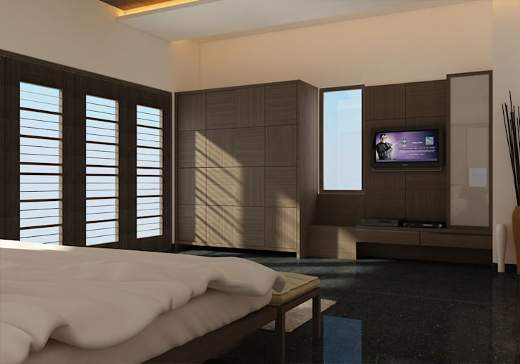 BEDROOM INTERIOR : classic  by Monoceros Interarch Solutions,Classic Wood Wood effect
