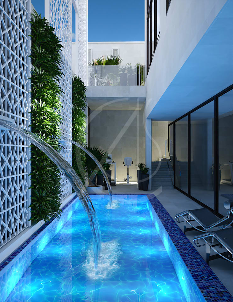 Piscinas naturales de estilo  de Comelite Architecture, Structure and Interior Design ,