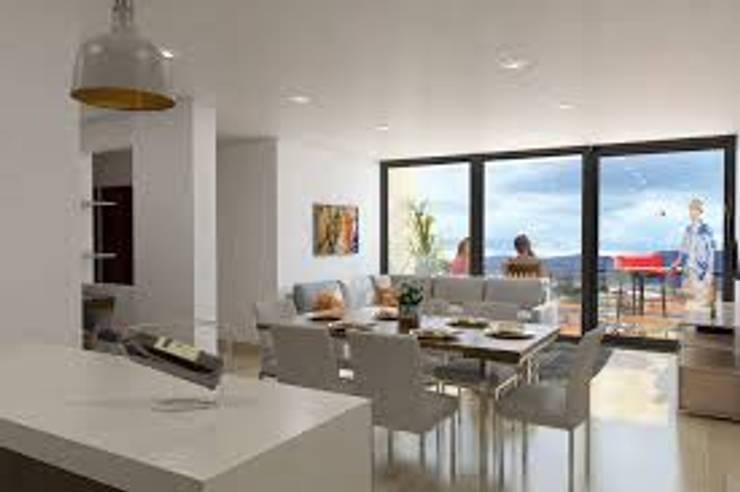 PROYECTO TORRES DE SAN FRANCISCO : Habitaciones de estilo moderno por CYD CONSTRUCCIONES