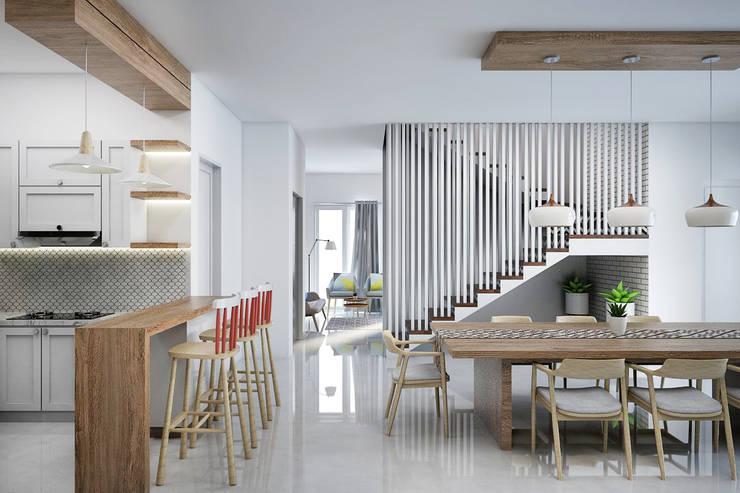 Ruang Makan:   by Vivame Design