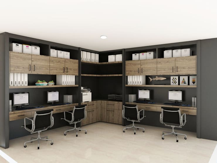 Admin Office:  Study/office by KC INTERIORS
