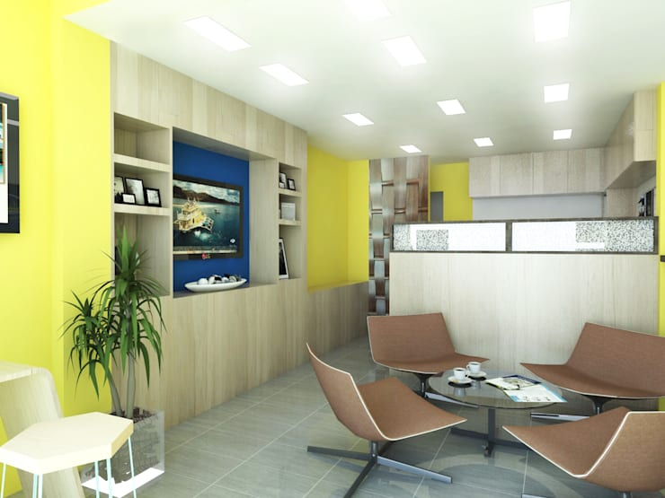 Travel Agency Office:   by KC INTERIORS