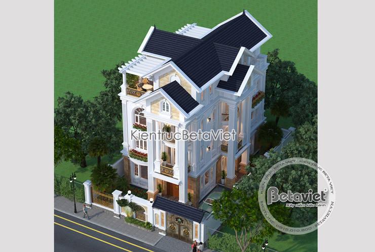 Phối cảnh mẫu thiết kế biệt thự đẹp 3 tầng Tân cổ điển (CĐT: Ông Dũng - Bắc Ninh) KT18033:   by Công Ty CP Kiến Trúc và Xây Dựng Betaviet
