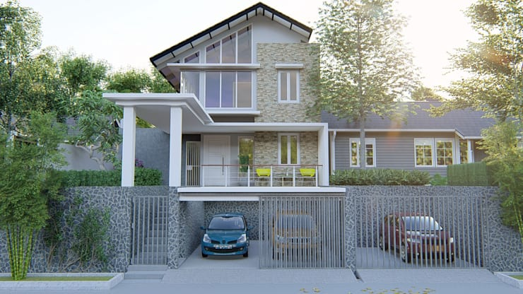 Rumah Puncak:   by Desain dan Konstruksi