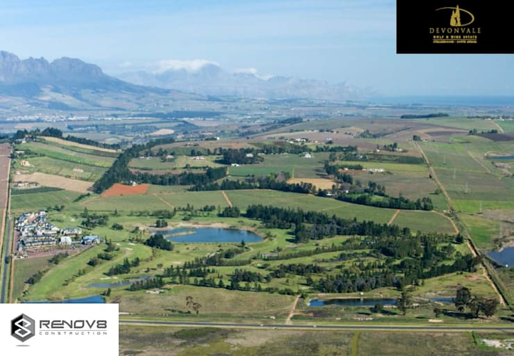 Aerial view of the Devonvale Golf and Wine Estate:   by Renov8 CONSTRUCTION