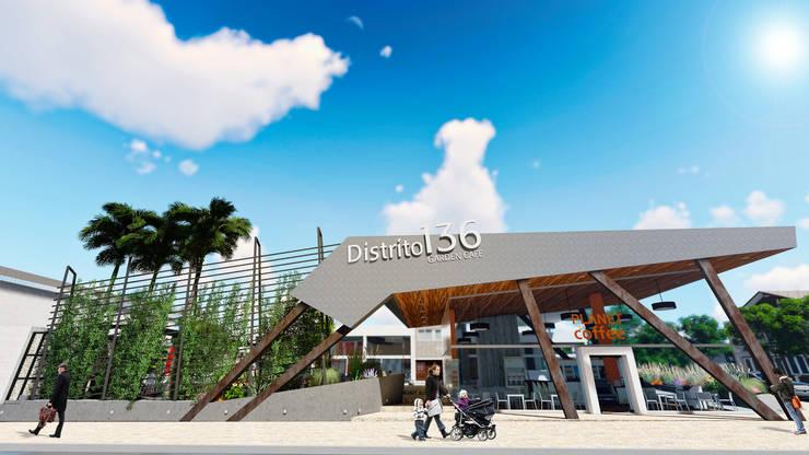 Centro Comercial ALDT 02: Galerías y espacios comerciales de estilo  por Módulo 3 arquitectura