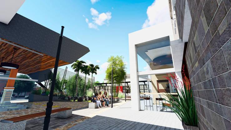 Centro Comercial ALDT 05: Galerías y espacios comerciales de estilo  por Módulo 3 arquitectura