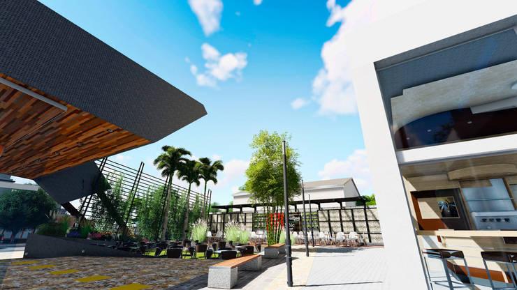 Centro Comercial ALDT 06: Galerías y espacios comerciales de estilo  por Módulo 3 arquitectura