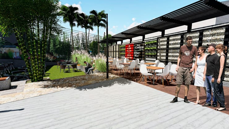 Centro Comercial ALDT 07: Galerías y espacios comerciales de estilo  por Módulo 3 arquitectura