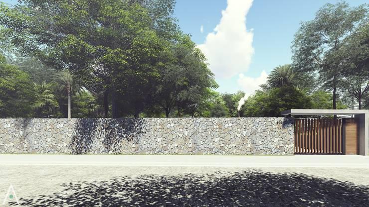 CASA FA 17  | Montecarlo | Misiones: Casas ecológicas de estilo  por Estudio Tava,