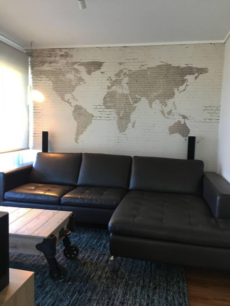 Sala de estar : Salas multimedias de estilo  por Kaa Interior | Arquitectura de Interior | Santiago
