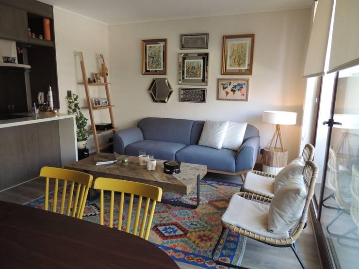 Living Comedor con niños: Livings de estilo  por Kaa Interior | Arquitectura de Interior | Santiago