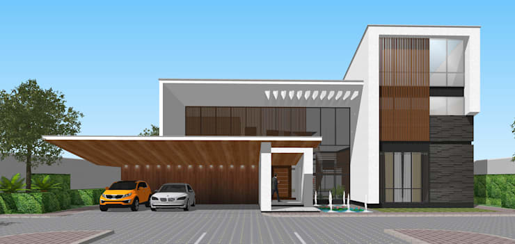 5 BEDROOM RESIDENCE:   by jmSantos Architecture