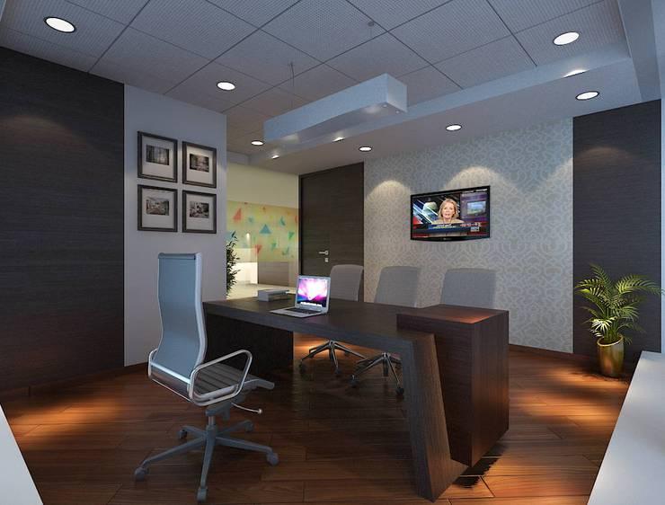 ARKEMA:  Study/office by smstudio,Modern