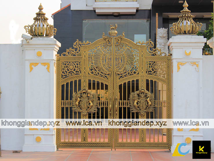 Mẫu cổng nhôm đúc biệt thự :   by Không Gian Đẹp XYZ